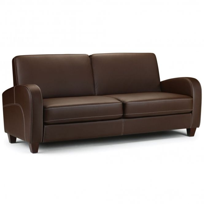 Vivo 3 Seater Sofa In Chestnut Faux Leather Faux Leather Sofa 3 Seater Leather Sofa Leather Sofa