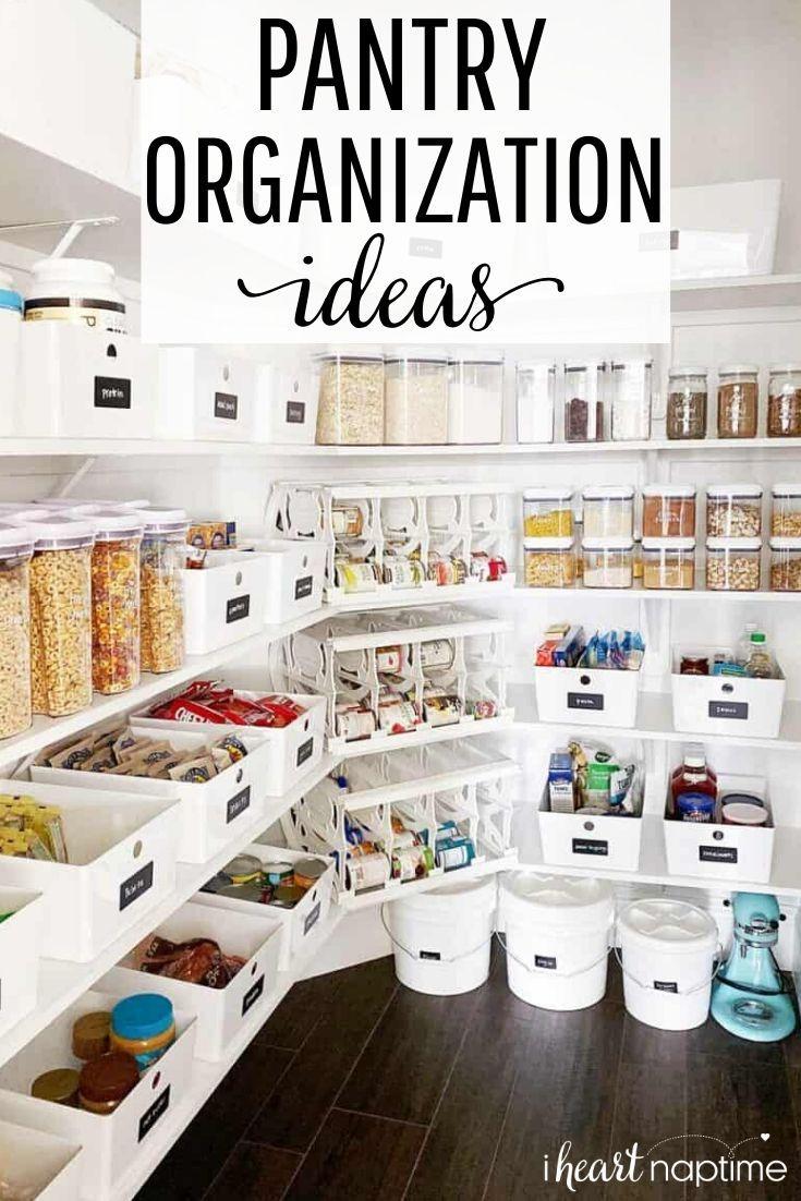 Easy Pantry Organization Ideas I Heart Naptime Deep Pantry Organization Pantry Organization Labels Kitchen Organization Pantry