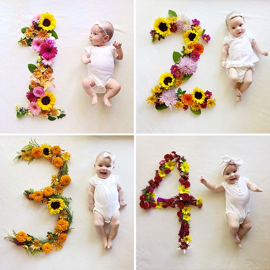 I've been thinking lately about a cute monthly photo idea we could do with our little gal. I know I want to keep a visual of her growth from month to month over this first year, I'm jus…
