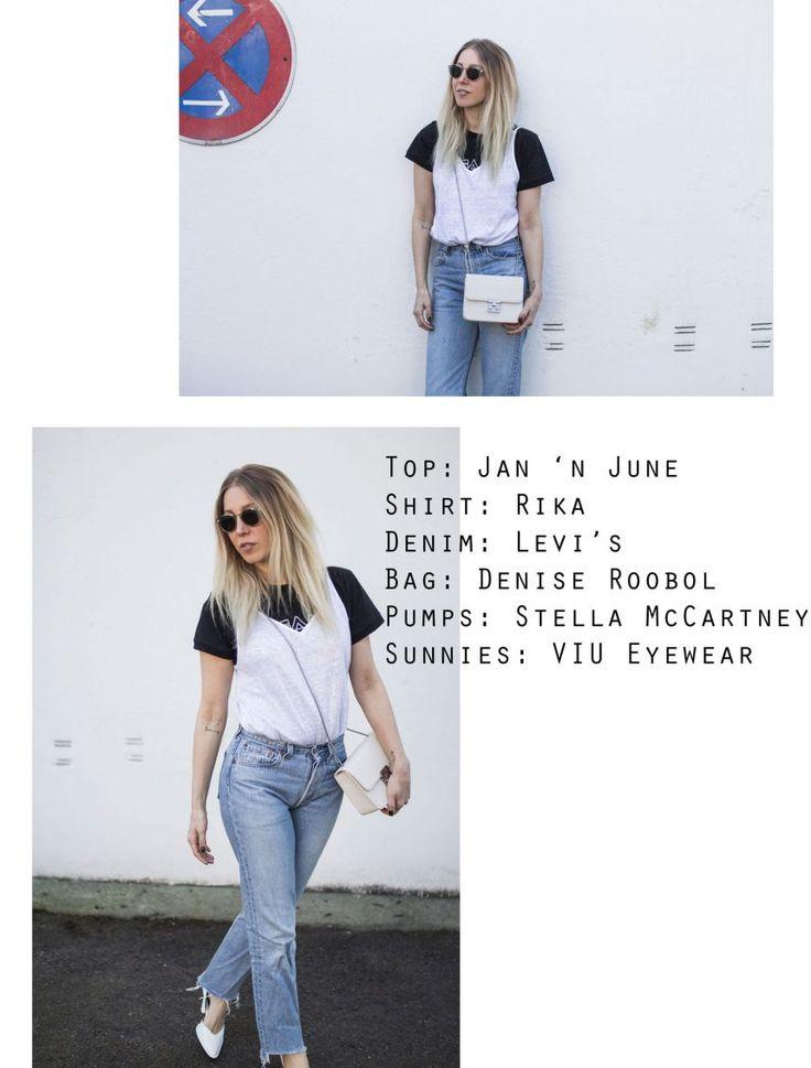 Trend, Layering, Jan 'n June, Top, T-Shirt, Levi's, Stella McCartney, Denise Roobol, VIU Eyewear, ootd, lotd, Look, Streetstyle, Fashionkarussel, Ethical Fashion, Spring, Blog, stryleTZ