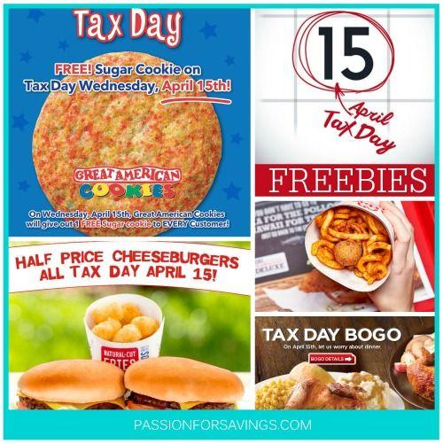 Tax Day Freebies 2015 | Free Stuff and Deals on April 15th | http://www.passionforsavings.com/tax-day-freebies/