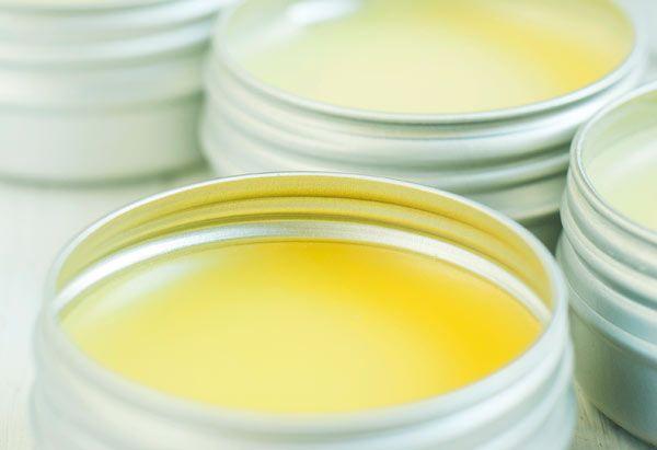 Homemade lip balm for lip care