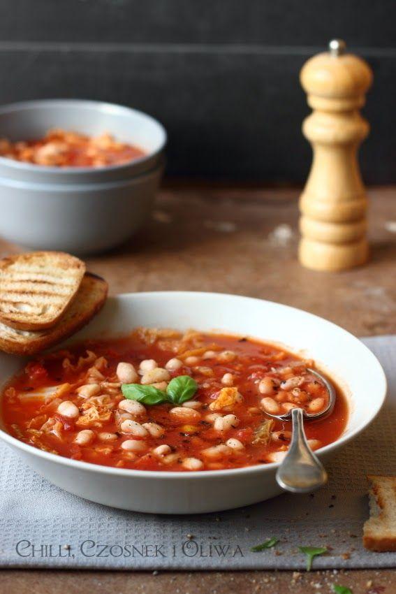 zupa na jesień z kapustą i fasolą