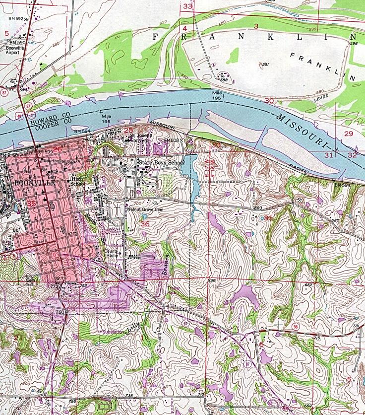 Boonville Missouri, Image, Map