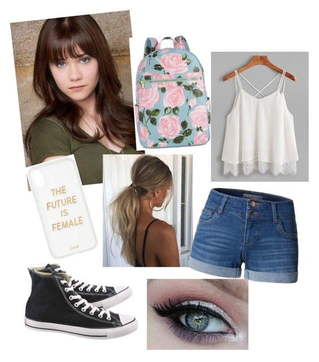 """beauty"" by queen-olmos on Polyvore featuring Converse, Sonix, ban.do and LE3NO"