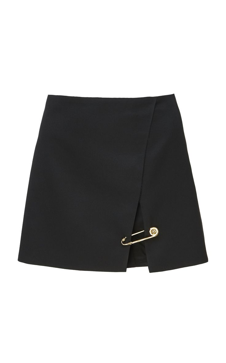 A-Line Wool Mini Skirt by VERSACE for Preorder on Moda Operandi 2