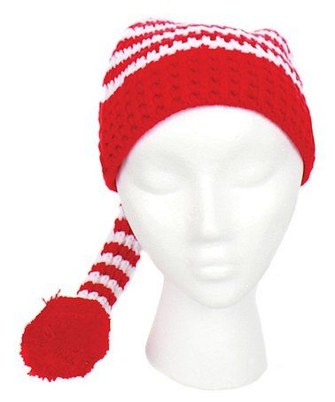 Red & White Stripe Hat