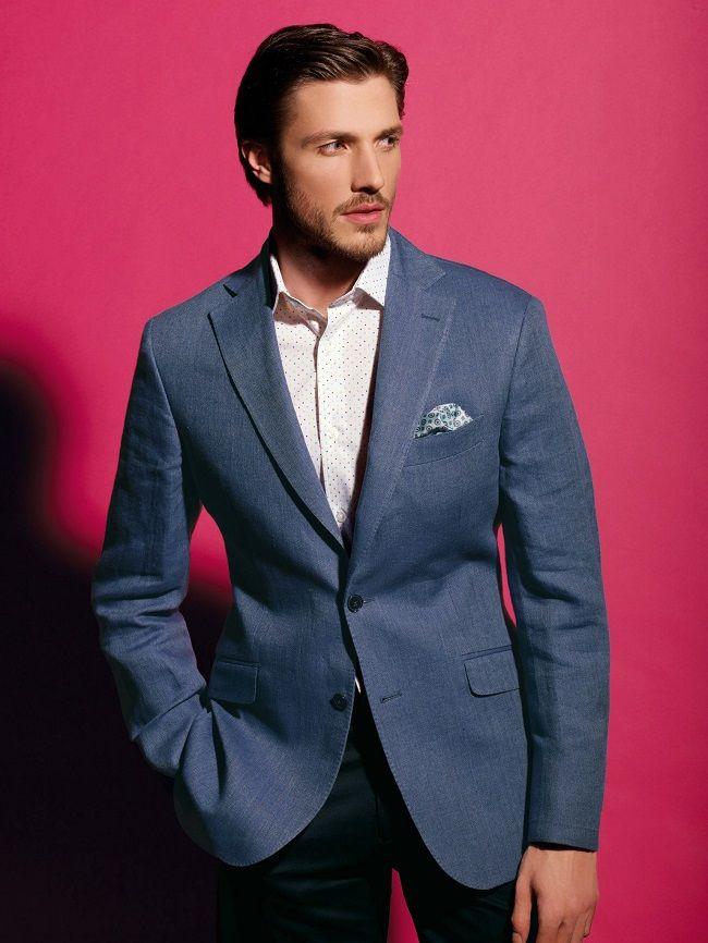 TM Lewin Lugano Light Blue Casual Jacket