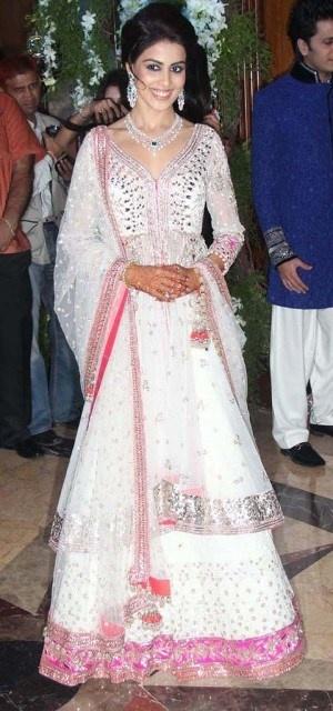 Genelia D'Souza in Manish Malhotra bridal dress
