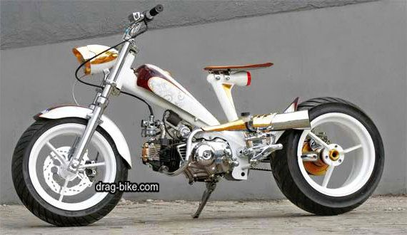 Modifikasi Honda C70 Racing Look