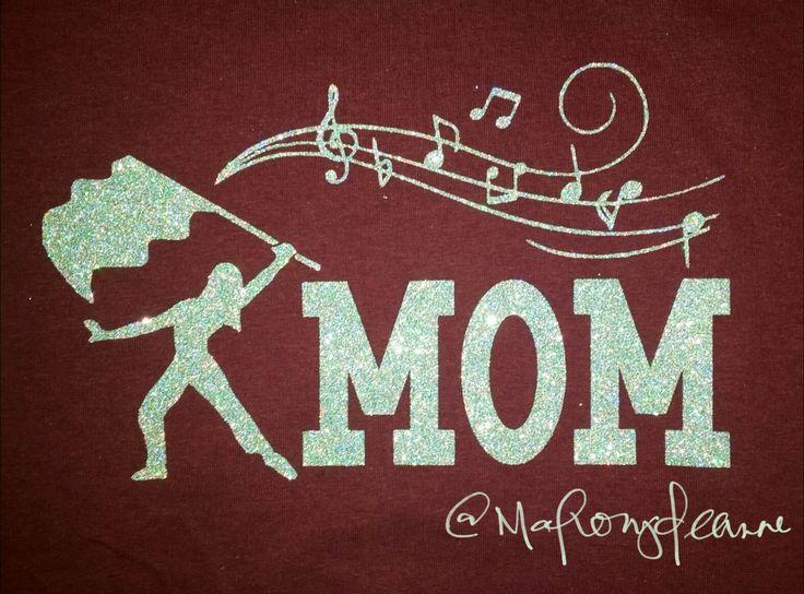 Color guard mom shirt #band #school #spirit