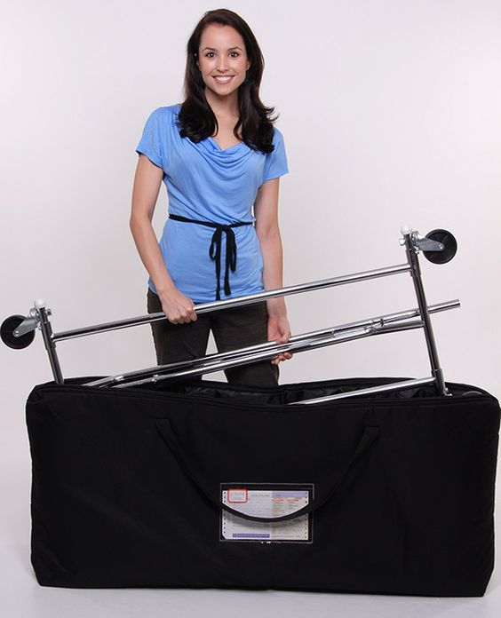 Collapsible Clothes Rack with Wheels - Holds 250 Pounds - Item # SR4848