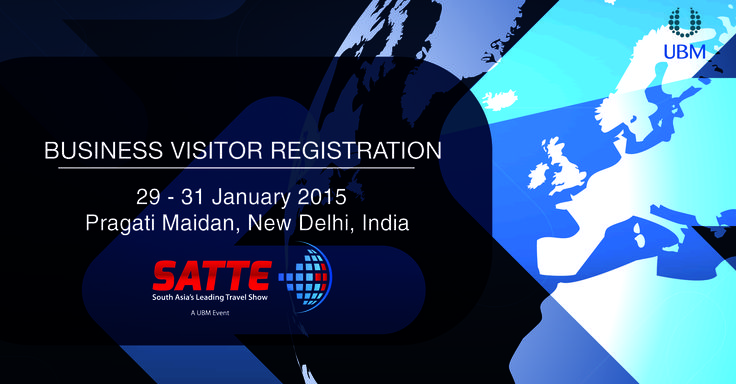 Come in as a Business Visitor and give your business the winning edge.   Register online for free entry to SATTE 2015 -> http://www.ubmindia.in/satte/landing-page.