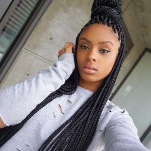 Box Braid Hairstyle for Black Women