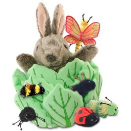 Rabbit in Lettuce Puppet with 6 Bugs | The Dyslexia Shop