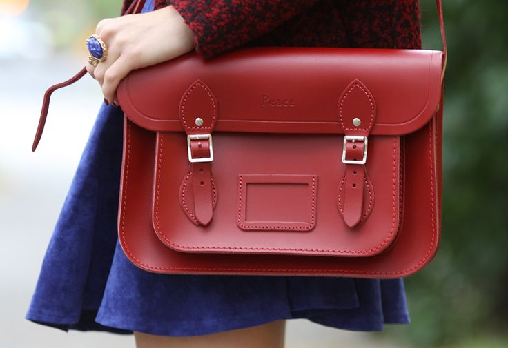 Mine ♥ - DARK RED CAMBRIDGE SATCHEL