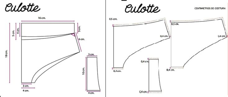 La Culotte o pantalette, es la prenda íntima tradicional que cubre un poco más y proporciona comodidad y armonía, suavizando las curvas de las caderas. El Patrón es muy sencillo y similar al de la…