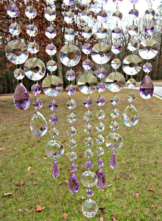 Violet Crystal Suncatcher Glass Suncatcher by CrystalWindChime