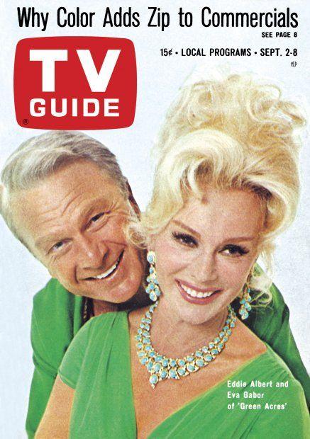 """TV Guide: September 2, 1967 - Eddie Albert and Eva Gabor of """"Green Acres"""""""