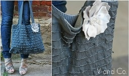 ruffle tote - love love this ruffle fabric