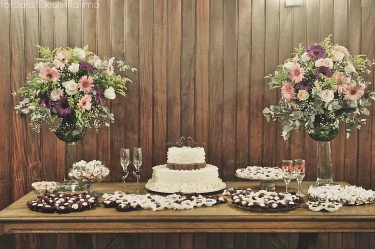 mesa de bolo noivado - Pesquisa Google