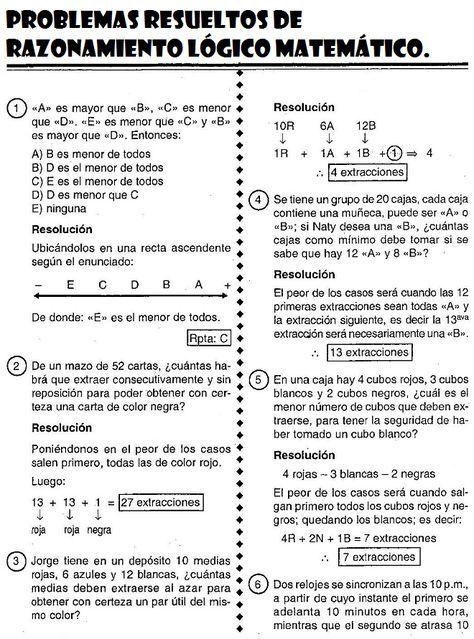 razonamiento logico matematico libro pdf
