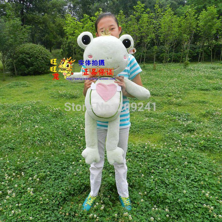 Big прекрасная лягушка-игрушка мягкий свет зеленый мальчик лягушка кукла свадебный подарок около 90 см