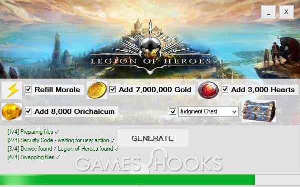 Legion of Heroes Hack   Games Hooks