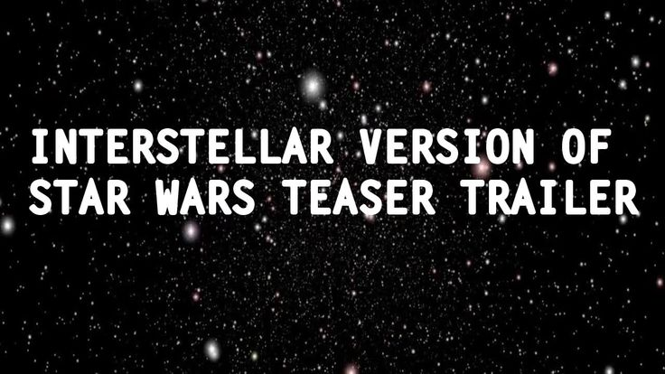 What if Chris Nolan directed Star Wars 7? (#interstellar)