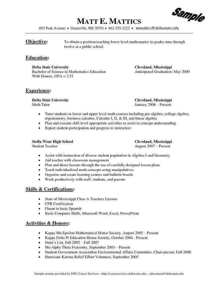 Delta mu delta on resume best of tutor resume description