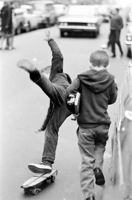 Life Magazine, Bill Eppridge. Skateboarding, Central Park, New York City, 1965