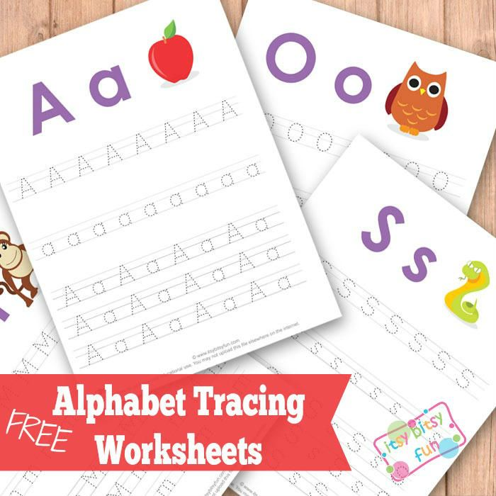 Free Upper and Lower Case Letter Tracing Worksheets
