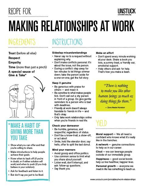 Itu0027s Never Too Late To Create Good Relationships At Work, Even If You Feel  Backed