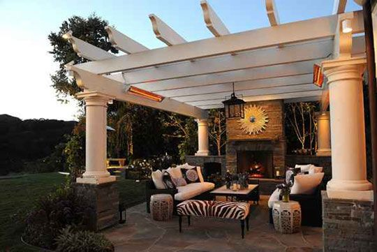 I just love the way the designer has made a comfortable outdoor space.