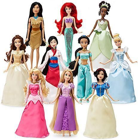 Disney Princess barbie dolls