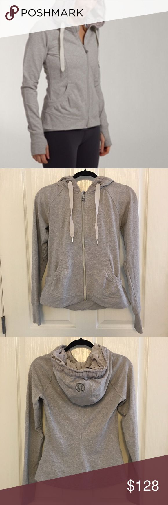 Price Drop 🔥 Lululemon hoodie jacket Lululemon movement hoodie jacket. Size 6. Excellent condition no issues to note. Stretchy French Terry material super comfortable lululemon athletica Jackets & Coats
