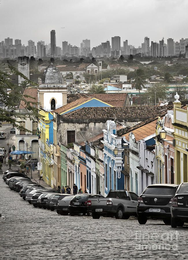 Old Town New City ~ Olinda, Recife, Brazil.  Photo: Nacho Miyashiro