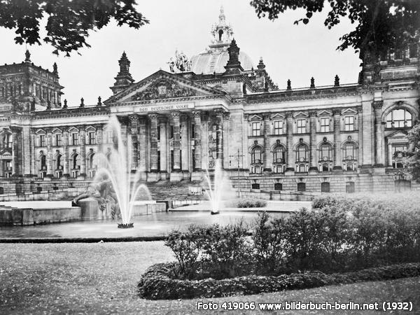 Reichstagsgebäude, Platz der Republik, 10557 Berlin - Tiergarten (1932)