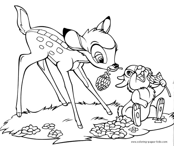 bambi and thumper bambi color page disney coloring pages color plate coloring