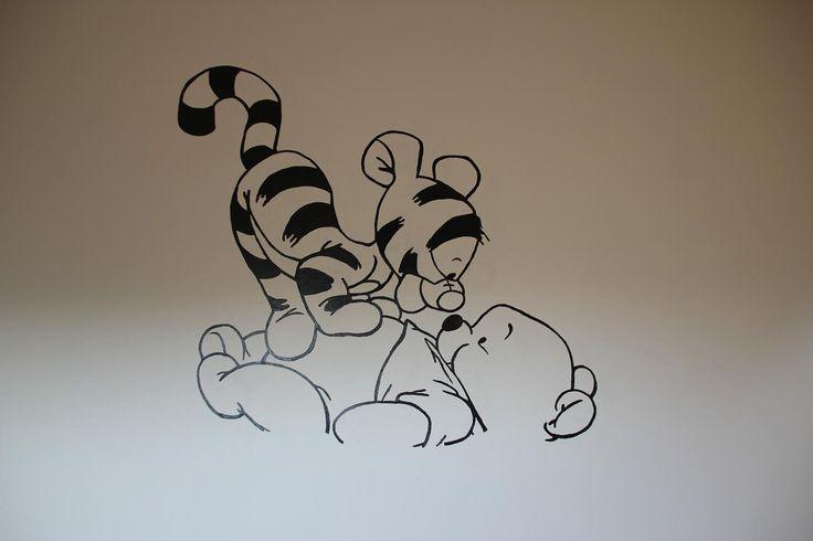 muurschildering pooh