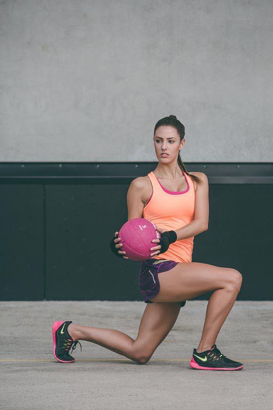 Medicine Ball lunge   Fitness Test Shoot by Matt Korinek   Photographer