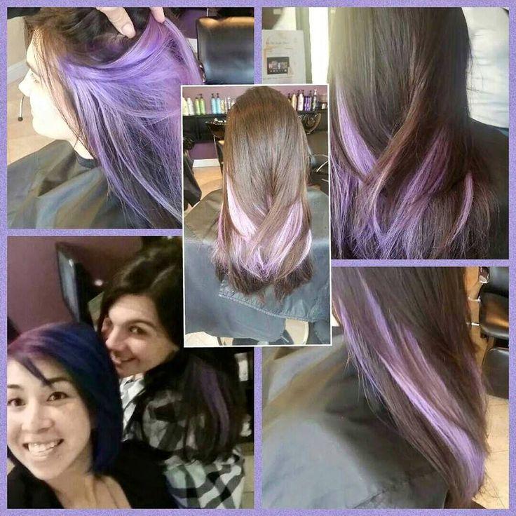 Lavender peekaboo! Hair by Spoiled Stylist @spoiledstylist Pravana Hair Colo:)