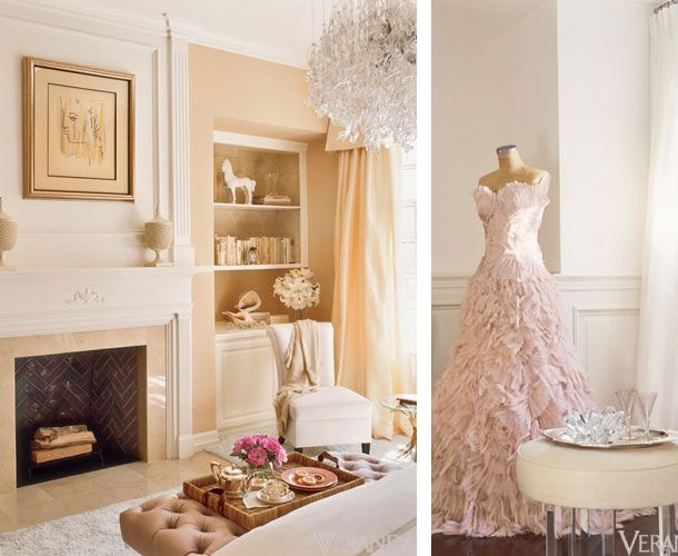 Peach Colored Rooms | So Utterly Elegant, This Peach Sitting Area Is The  Height Of