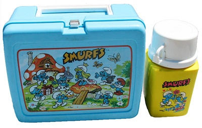smurfs lunch box