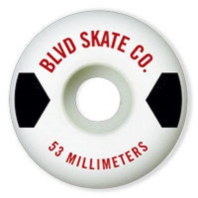 BLVD Text - White - 53mm