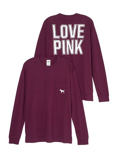 Campus Long Sleeve Tee - PINK - Victoria's Secret