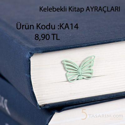 en güzel kelebek  kitap ayracı modelleri