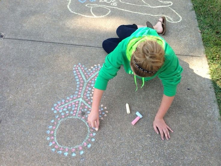 Student work: aboriginal art inspired chalk drawings