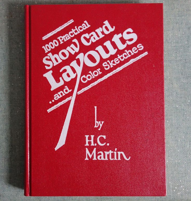 The 58 best sign painting books images on pinterest sign painting 1000 practical show card layouts harold c martin sign painting design rare malvernweather Image collections