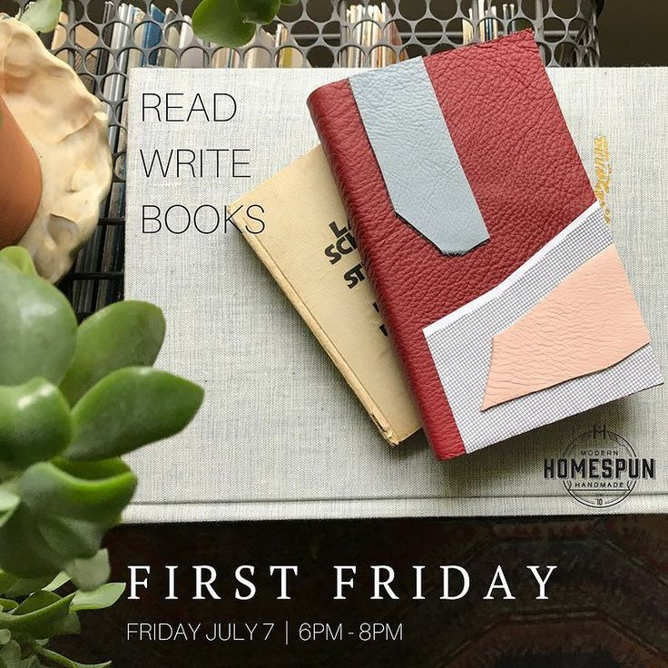 "Don't forget this First Friday we'll be exhibiting new work in our mini gallery space from local bookbinding artist @readwritebooks! Her collection of ""Leatherforms"" will be on display through the months of July - August. You can come celebrate the opening with us however this Friday from 6pm - 8pm in store!"